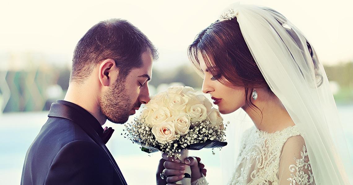 La séance de photo de mariage